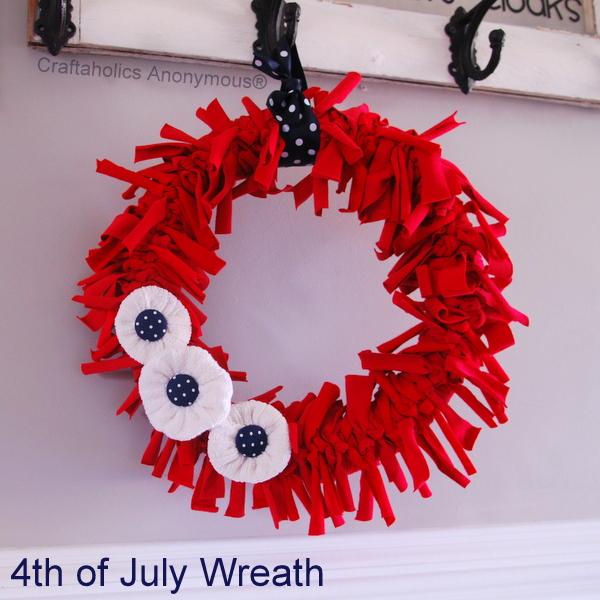 t-shirt wreath
