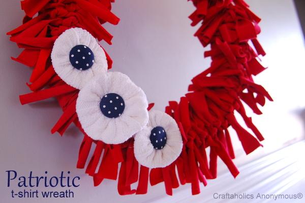 4th of july wreath idea