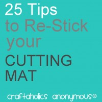 How to Re-stick A Silhouette or Cricut Cutting Mat