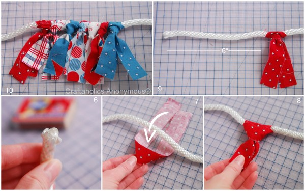 how to make a scrap fabric banner