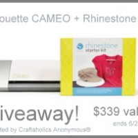 a Mustache, a Silhouette Discount, and a Silhouette CAMEO Giveaway!!