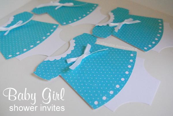 polka dot baby shower invitations
