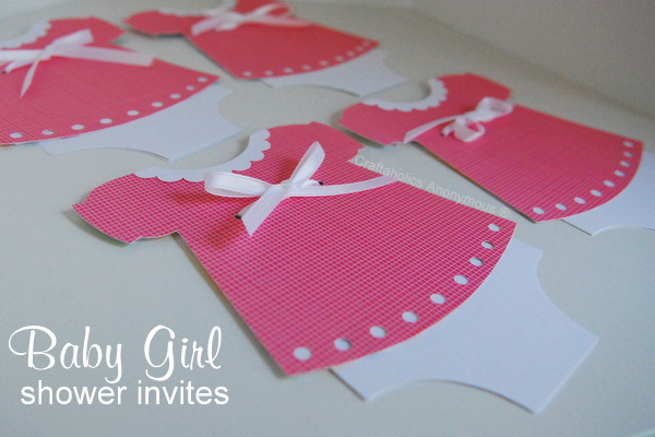 baby dress shower invitations