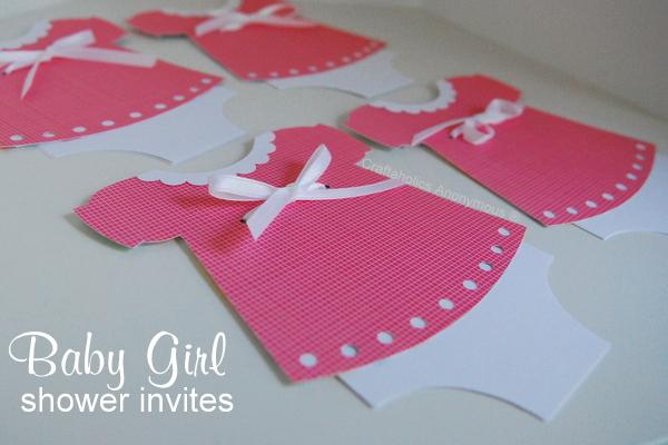 baby dress shower invitations