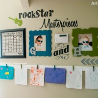 Rockstar Masterpieces: A Childrens Art Wall Display