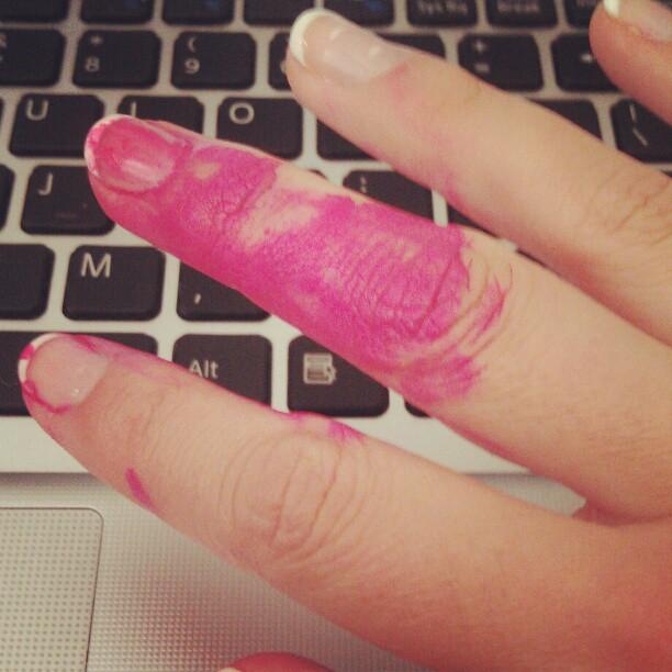 paint on fingers