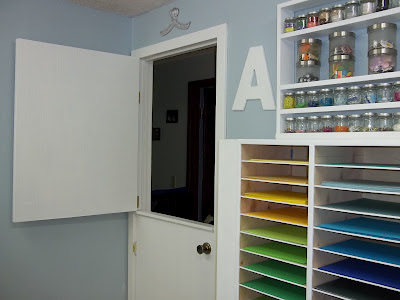 dutch door in craft room