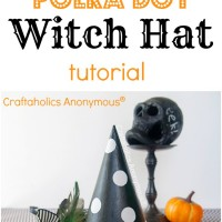 Polka Dot Witch Hat Tutorial