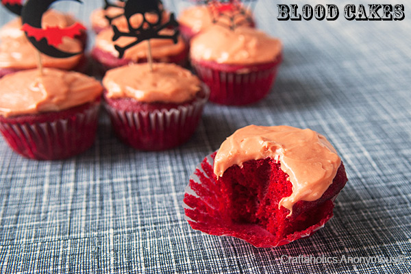 blood cupcakes