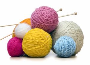 knitting yarn and hooks