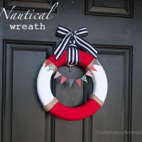 Simple Nautical Wreath + Craft Room Inspiration Week announcement