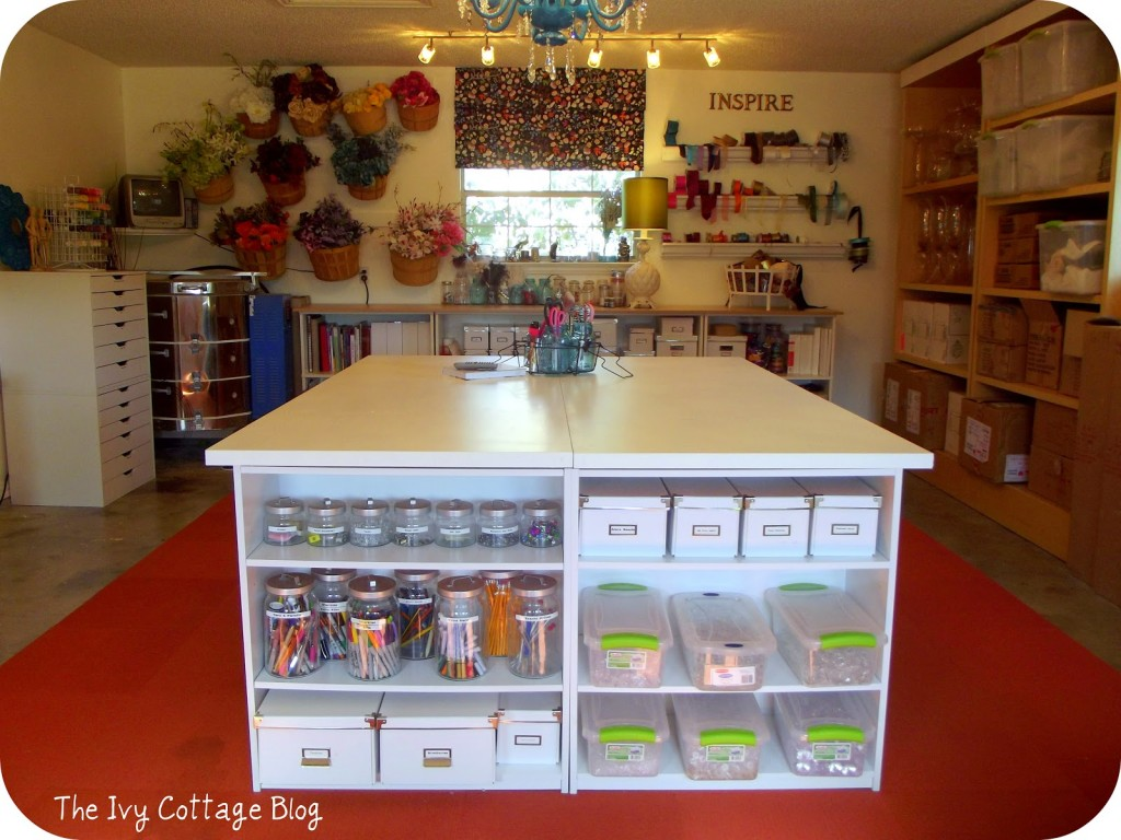 craft room reveal from ivy cottage blog