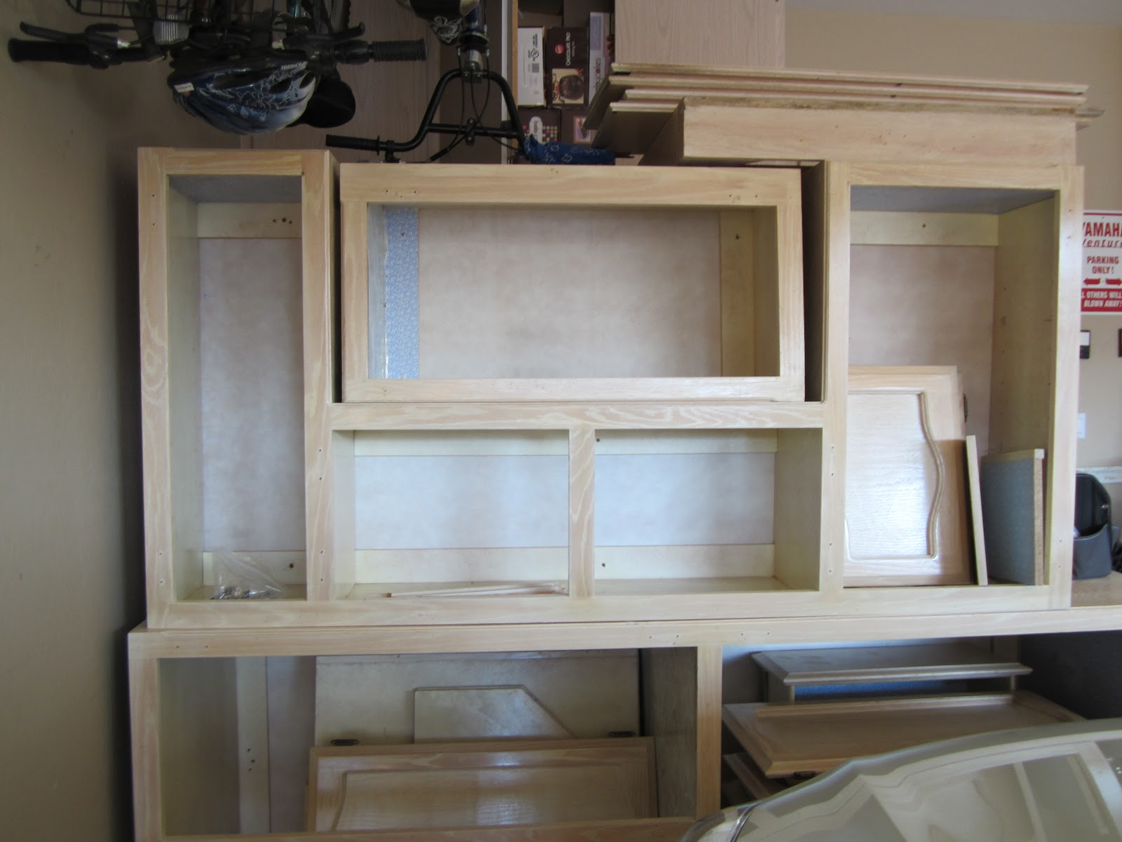 recycled kitchen cabinets for a craft room