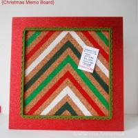 Christmas Craft: Chevron Memo Board