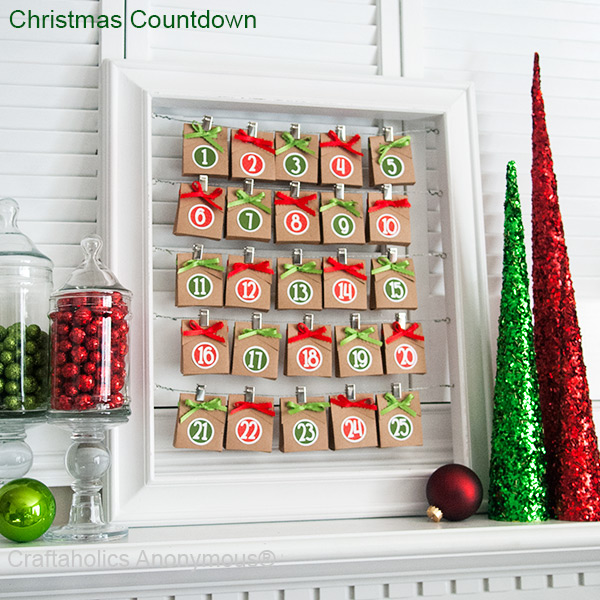 christmas countdown frame