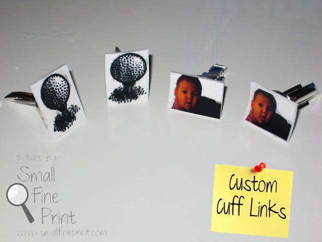 diy custom cuff links from small fine print