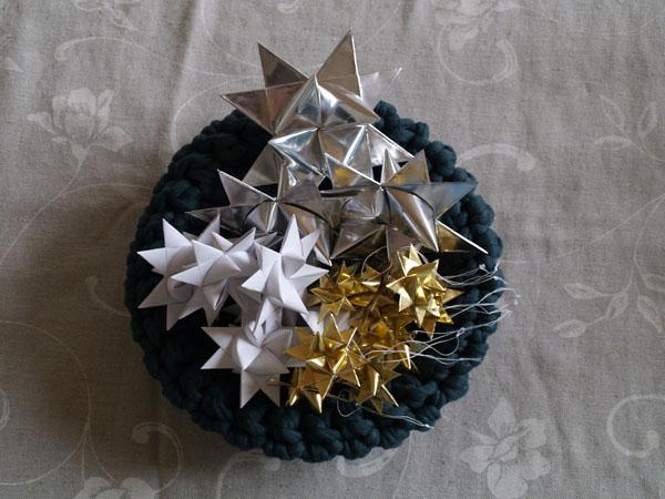 knit bowl and Danish stars