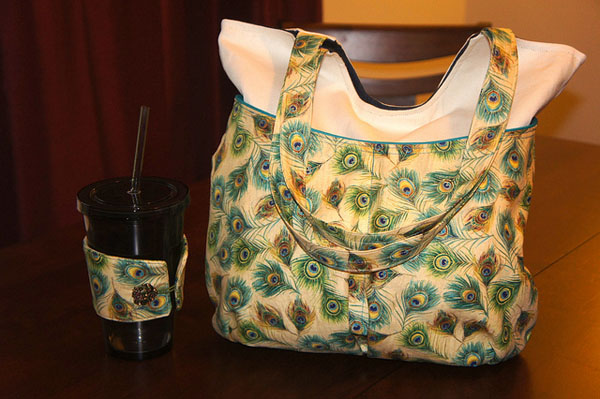 carry all tote and matching coffee cozy