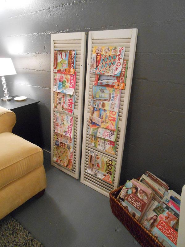 book and magazine racks