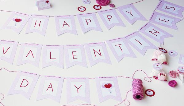 printable Valentine's day party set