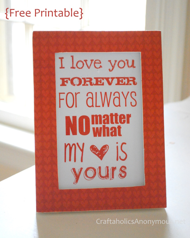 Free Valentine's Printable at Craftaholics Anonymous®,