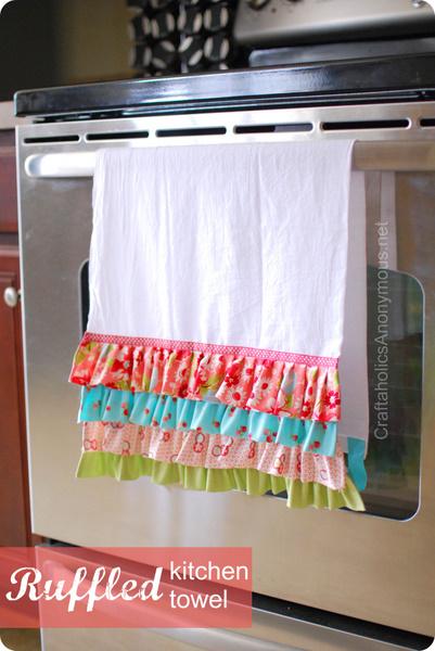 ruffled DIY tea towel