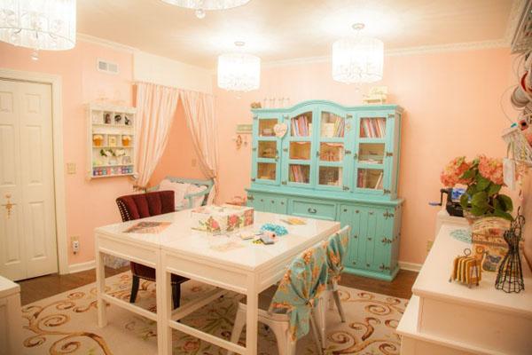 Christine's beautiful craft room