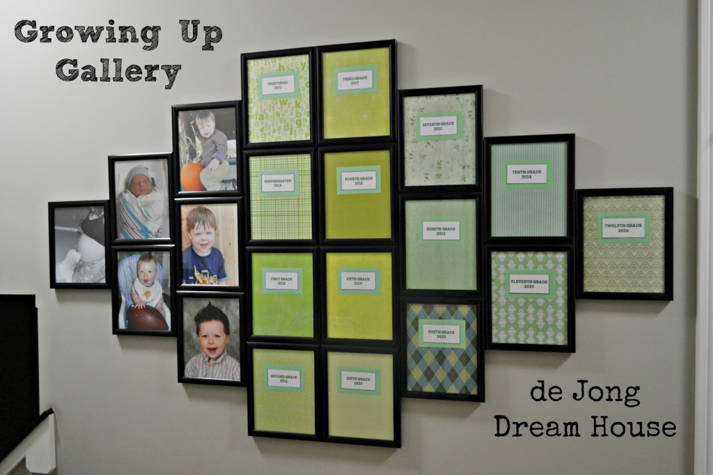 growing up gallery wall