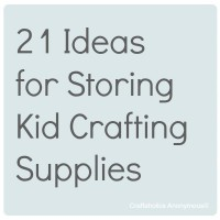 21 Small Craft Storage Ideas for Kids