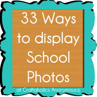 33 ways to display school photos