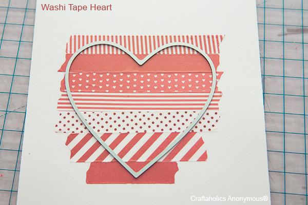 washi tape heart