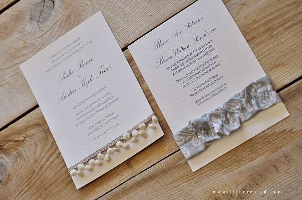 Ideas For Handmade Wedding Invitations