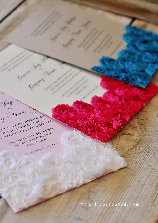 how to make handmade wedding invitations