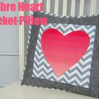 Valentines Tutorial: Ombre Heart Pocket Pillow