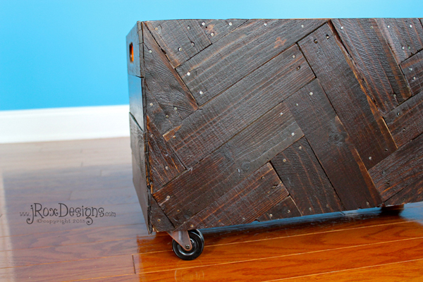 herringbone toy box