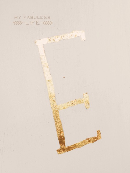 how to gold leaf 1