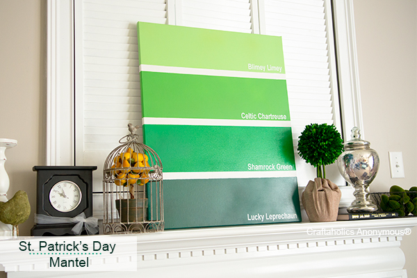 paint chip art - St Patricks Day Decorations