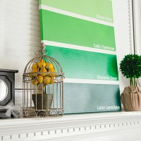 Simple St. Patrick's Day Mantel