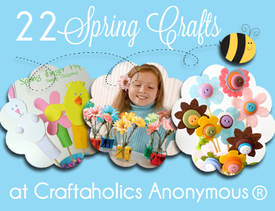 Round up of fun spring crafts for all ages