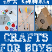34 Cool Crafts for Boys