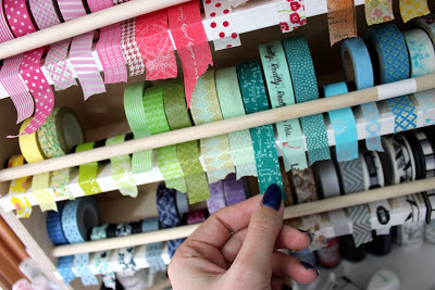 washi tape organization