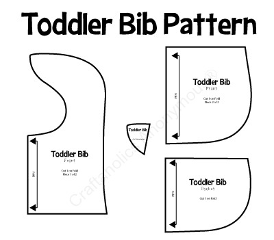 toddler bib pattern