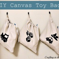 Drawstring Bag Tutorial for hanging Toy Storage