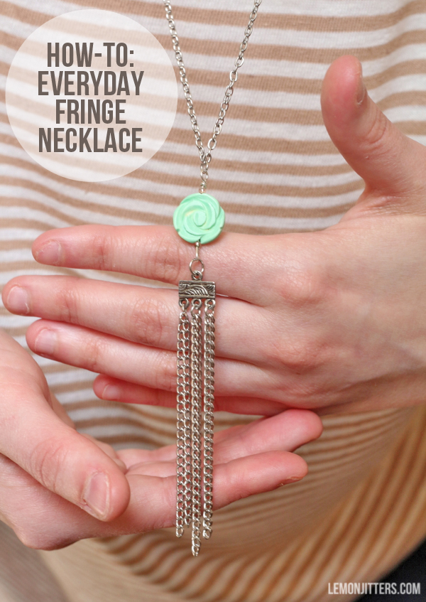 fringe necklace how-to - need to make this!