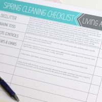 Spring Cleaning Checklists Printable