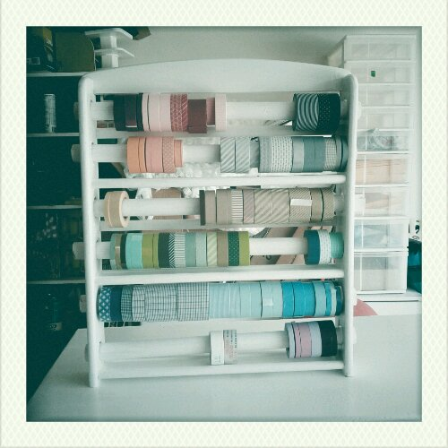 washi tape wall organizer