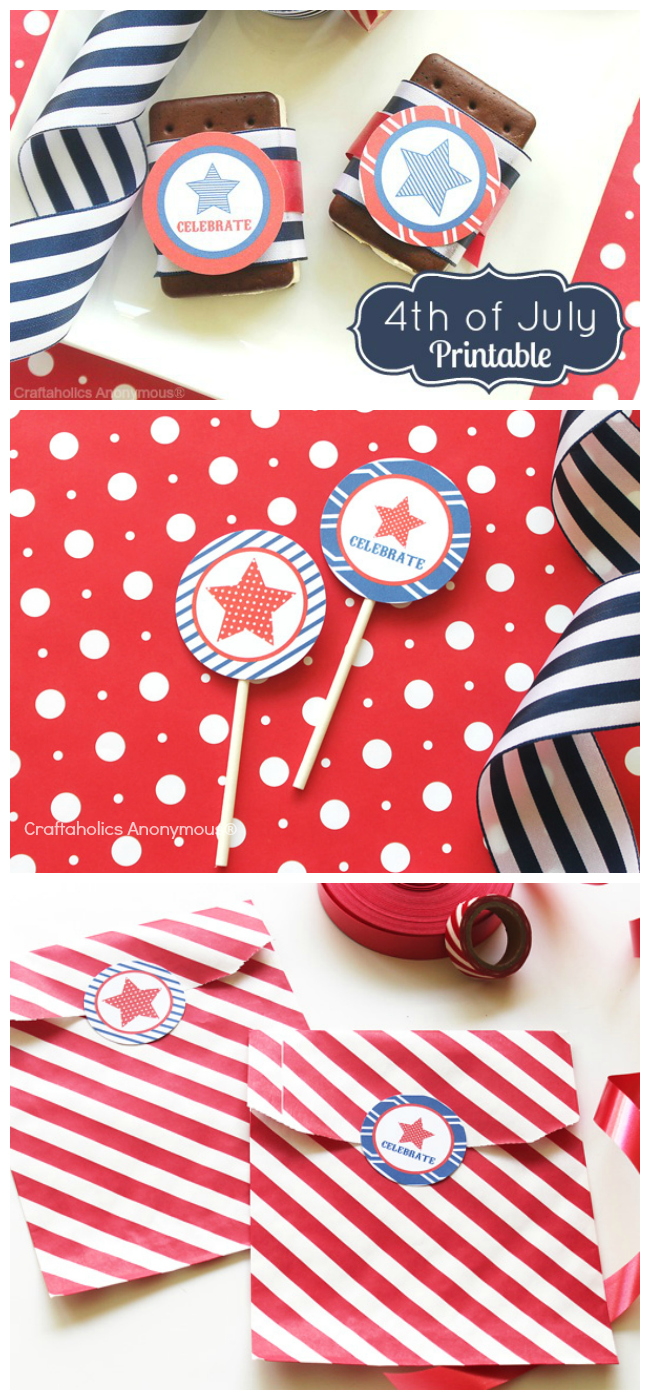 Free 4th of July Printables. Lots of ways to use them! #4th_of_july #printables