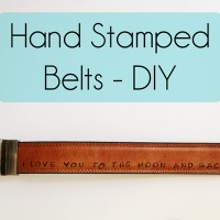 Handmade Fathers Day Gift – DIY Stamped Belts