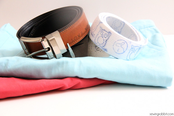hand stamped belts for dad