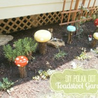 DIY Garden Decor: Whimsical Toadstools